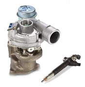Vendita turbocompressori e componenti iniezione Diesel